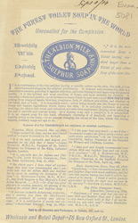 Advert for Albion Milk and Sulphur Soap